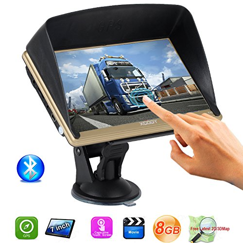 Mic Pre Module (Bluetooth Capacitive Touch Screen 7 Inch Car Truck GPS Navigation 8G ROM Pre-installed North America Maps Lifetime Free Map Update with Sun Shade (Gold))
