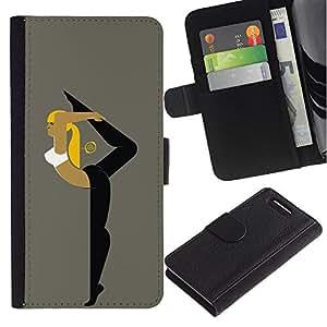KingStore / Leather Etui en cuir / Sony Xperia Z1 Compact D5503 / Mujer flexible