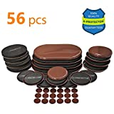 Heavy Duty Felt Pads for Chair Legs Furniture Sliders X-PROTECTOR GIANT PACK 56 PCS: 20 pcs Furniture Sliders For Carpet & Felt Sliders + 36 Furniture Pads. BEST Set of Reusable Furniture Movers Sliders for ALL Surfaces!