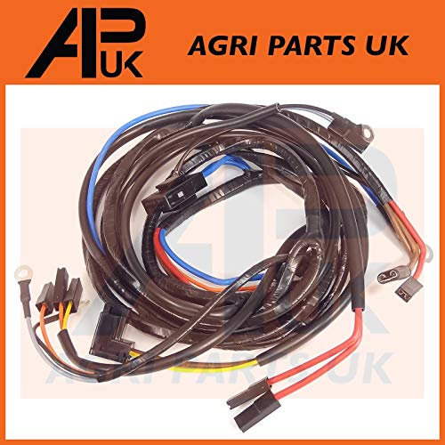 APUK Wiring Harness Loom Alternator Type compatible with Massey Ferguson 165 168 178 185 188 Tractor: