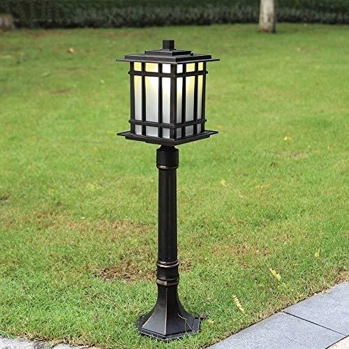 XAJGW Outdoor Lights in Black Made of Aluminium (1 Light Source, E27, A++) from | Pillar Lights, Garden Light, Path Light, Bollard Light, Path lamp, Pillar Light [Energy Class A++] ()
