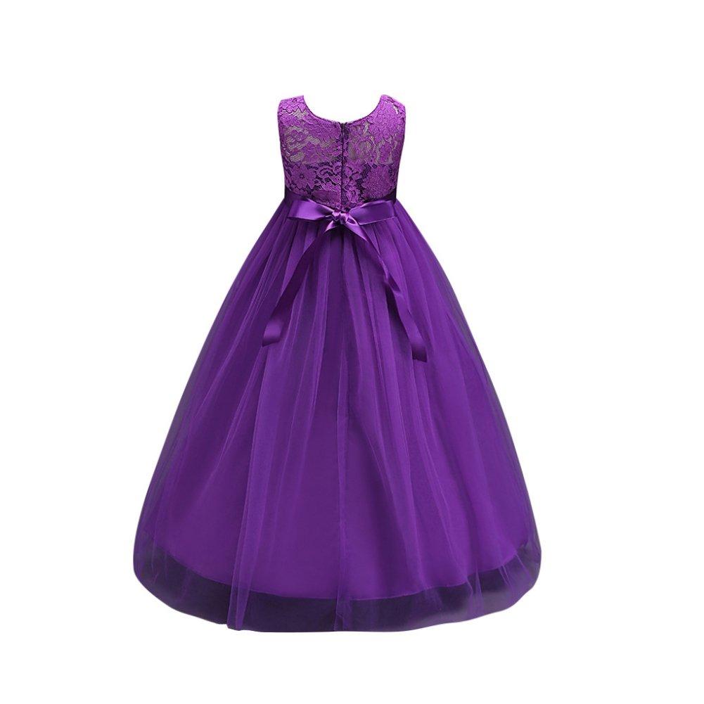 Sweetds Vestidos de Niña Princesa, Vestidos de Fiesta Niñas Vestido ...