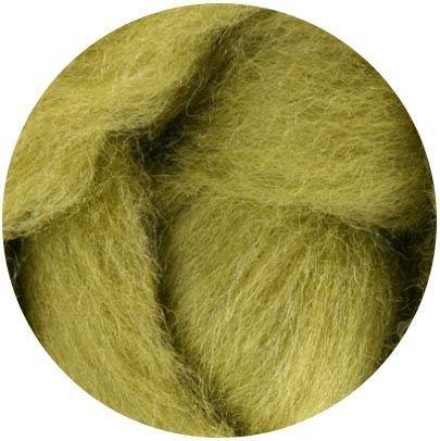 Weir Crafts NZ Corriedale Wool Roving for Felting - 1 Ounce Lima bean Ashford 501-lmbn