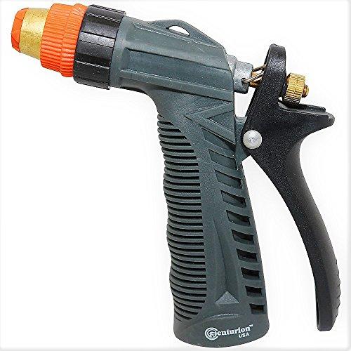 Centurion IMRN512 Heavy Duty Metal Hose Nozzle with Rear Trigger - Adjustable Spray Nozzle (Pistol Nozzle)