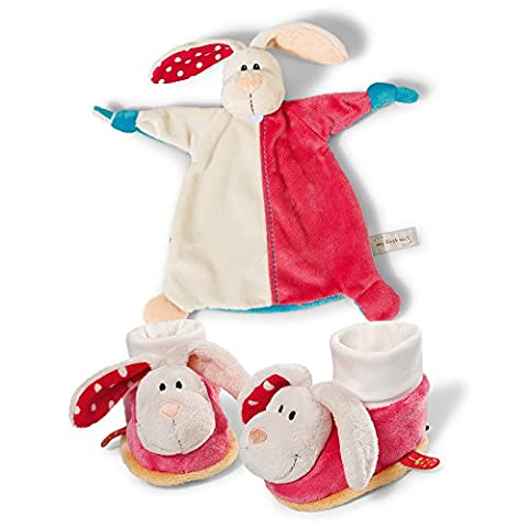 My First Nici Comforter Rabbit Baby Blanket and Rattling Booties Set (Booties With Rattles)