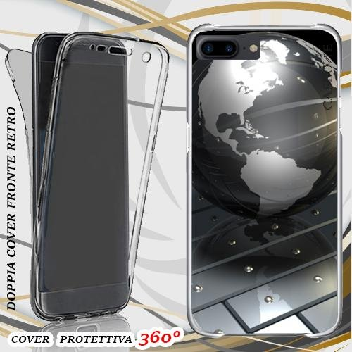 CUSTODIA COVER CASE MODERN WORLD PER IPHONE 7 PLUS FRONT BACK