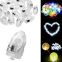 GLALDE 10Pcs Multi-color Useful LED Balloon Light Lamp Lantern(1.4*3.3*1.2cm) With Battery for Paper Lantern Balloon Light Party Wedding Decoration