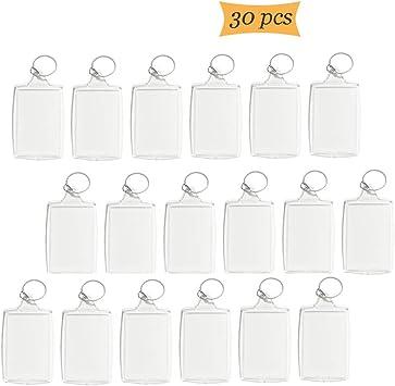 10 PCS Personalized Acrylic Photo Keychain Blank DIY Custom Frames 4X5.5Cm Size