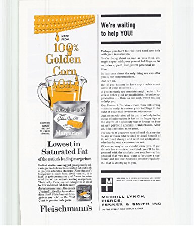 1965 Vintage Magazine Advertisement 100% Golden Corn Oil Fleischmann's - Margarine Fleischmanns