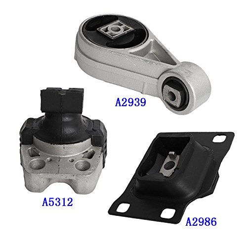 Set of 3 Engine Mount for 2005 2006 2007 Ford Focus 2.0L Compatible with Auto Trans