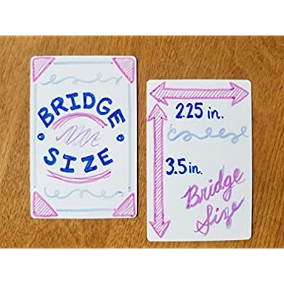 Apostrophe Games Blank Playing Cards (Bridge Size, Aqueous Finish) (50 Cards): Sports & Outdoors
