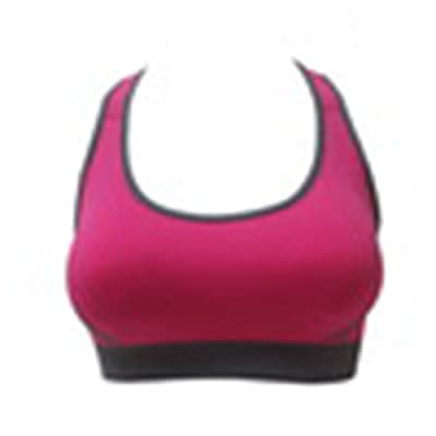6fb33fa103e MNXNEZ Women Fitness Sports Bra Padded Top Athletic Vest Gym Stretch Cotton  Seamless