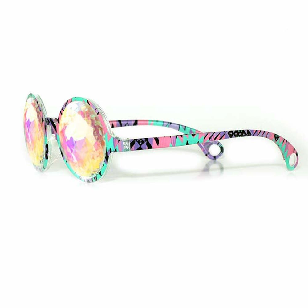 GloFX Aztec Kaleidoscope Glasses – Rainbow - Rave Rainbow EDM Diffraction by GloFX (Image #2)