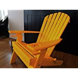 Poly Recycled Plastic Adirondack Chair With Two Cupholder Orange