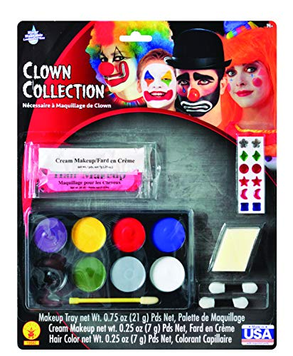 Rubie's Costume Clown Makeup Kit, White, One Size