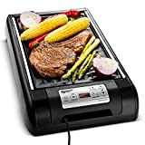 Magic Mill 2 in 1 Electric Smokeless Grill and Griddle Pan for Indoor BBQ in Your kitchen – Digital Temperature Control – Cooking Timer – Built in Fan for Smokeless Grilling Review