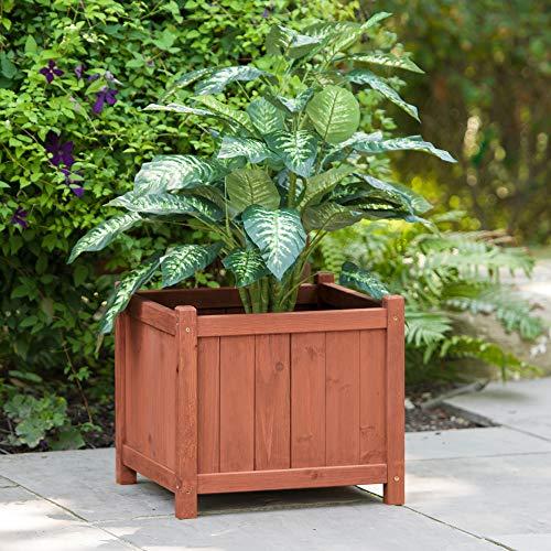 Leisure Season Square Wooden Flower Planter ()