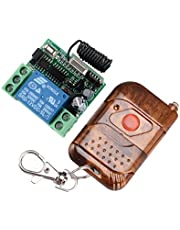 1 canal Energía DC 12V Momentary Kit de control remoto RF Transmisor & receptor 433 MHz, luz/lámpara LED, bomba de agua, emisor, mando a distancia, mando a distancia 100m momentary