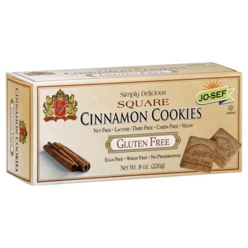 Jo-Sef Gluten Free Cinnamon Graham Cracker, 8 Ounce -- 12 per case.