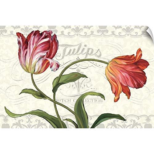 CANVAS ON DEMAND Lisa Audit Wall Peel Wall Art Print Entitled Tulipa Botanica I Cream ()