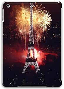 Fireworks At Eiffel Tower iPad Air Case, iPad Air 3D Cases Hard Shell White Cover Skin Cases