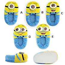 1 X Pair Despicable Me 3D Eyes Minion Stewart Soft Plush Doll Adult Plush Slippers