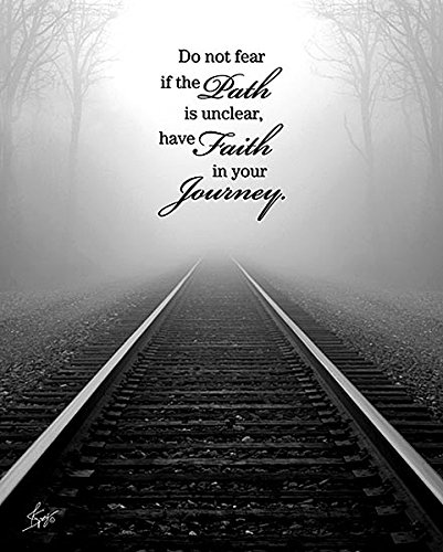 Faith in Your Journey Black White Photography Justin Spivey Museum Wrapped Canvas Art 30x24 Inches by Framed Art by Tilliams