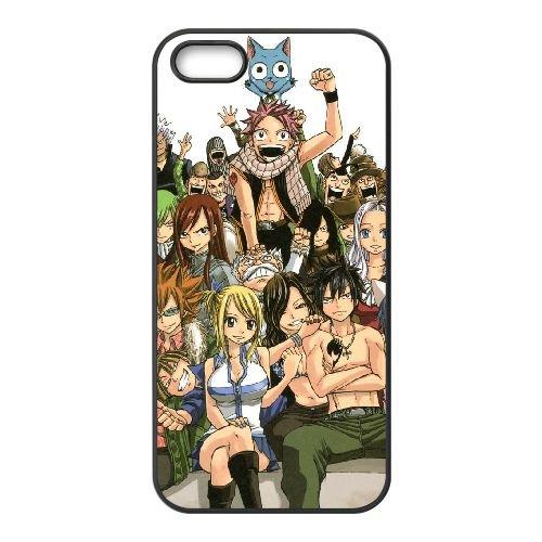 Fairy Tail 043 coque iPhone 4 4S Housse téléphone Noir de couverture de cas coque EOKXLLNCD13875