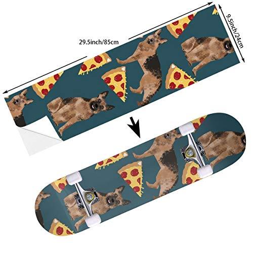 DADAISM German Shepherd Pizza Skateboard Deck Grip Tape