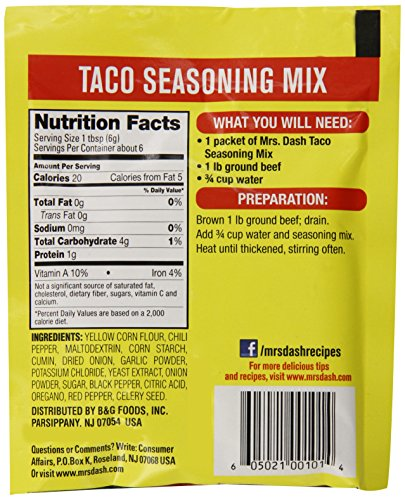 Mrs. Dash Taco Seasoning Mix, 1.25 Ounce (Pack of 12) by Mrs. Dash (Image #3)