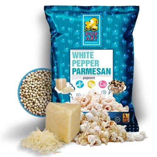 Pop Art Snacks Popcorn White Pepper Parmesan, 5 - Ounce, (Pack of 9)