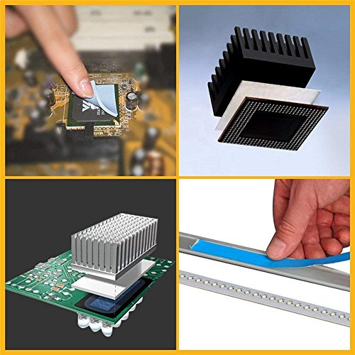 AIYUNNI 20mm x 25M x 0.25mm Thermal Adhesive Tape High performance Thermal Double Side Tapes Cooling Pad Apply to Heatsink LED IGBT IC Chip Computer CPU GPU Modules MOS tube SSD Drives by AIYUNNI (Image #7)
