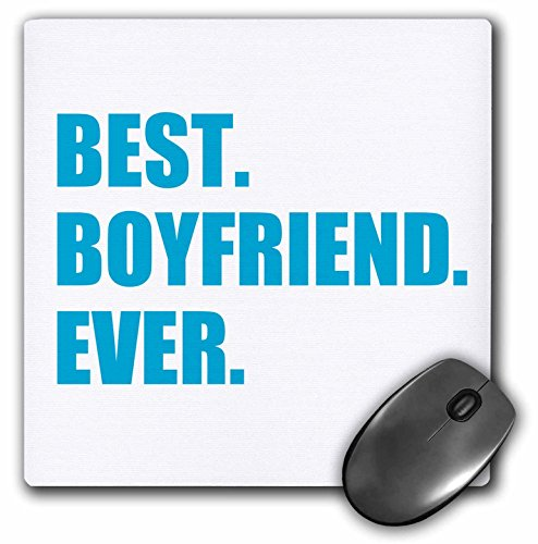 3drose Blue Best Boyfriend Ever Text Anniversary Valentines Day Gift for Him - Mouse Pad