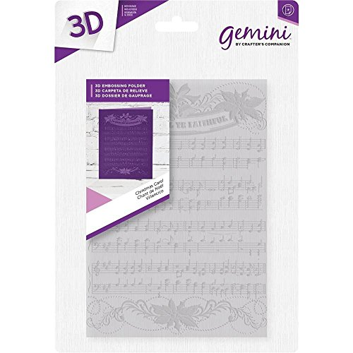 Crafter's Companion 5'' x 7'' 3D Card Embossing Folder - Christmas Carol by Gemini