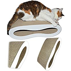 Premium Cat Scratcher Lounge Bed - White Acrylic