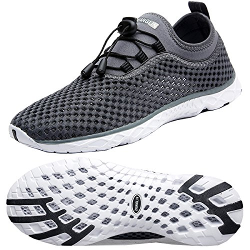 - Zhuanglin Men's Lightweight Aqua Water Shoes Beach Sneakers