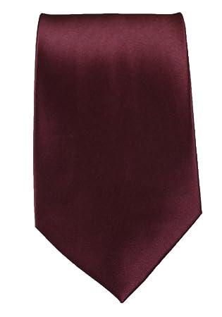 ACCmall Corbata de poliéster para Hombre, Color Granate y borgoña ...