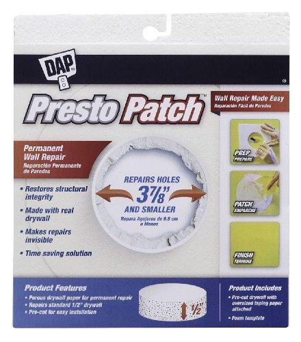 Presto Patch - Dap 09155 Presto Patch Drywall Plug, 1/2-Inch, 3-7/8-Inch