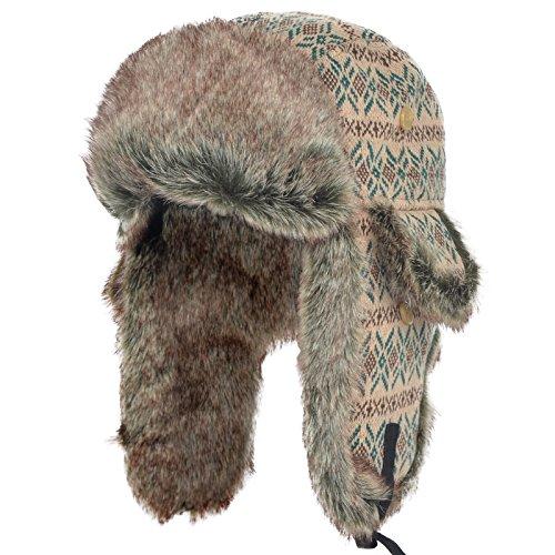 Janey Rubbins Unisex Winter Knit Russian Ushanka Cossack Trapper Aviator Cap Hat  (Trappers Hat Women)