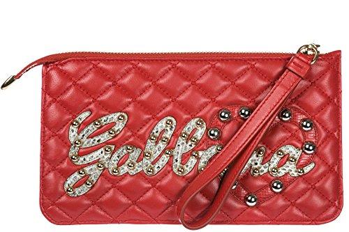 rojo mano de piel en pochette amp;Gabbana nuevo bolso mujer Dolce wqnWzgH4Tt