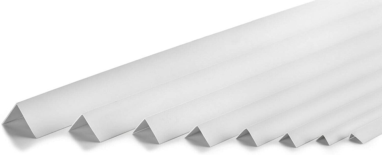 protection dangles et de bords 15x15 Corni/ère PVC adh/ésive blanche rigide 100cm