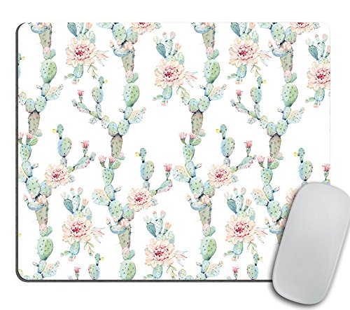 Hand Drawn Watercolor - Hand Drawn Watercolor Saguaro Cactus Seamless Pattern Rectangle mosue pad Gaming Mouse pad Non-Slip Mouse pad