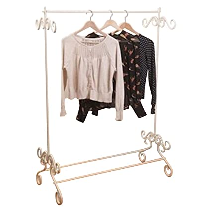 Shabby Chic Vintage Style Clothes Garment Rail Metal Ornate ...
