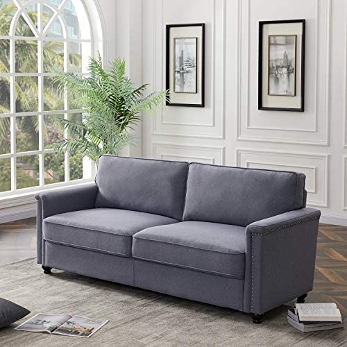 Knocbel 3-Seater Fabric Sofa Couch Upholstered Loveseat