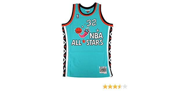 8bb892fd7aa Amazon.com : Mitchell & Ness Shaquille O'Neal NBA Teal 1996 NBA All Star  East Jersey For Men : Sports & Outdoors