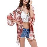 Swimwear Cover up,YOBOKO Summer Womens Beach Wear Cover up Swimwear Beachwear Bikini (Red)