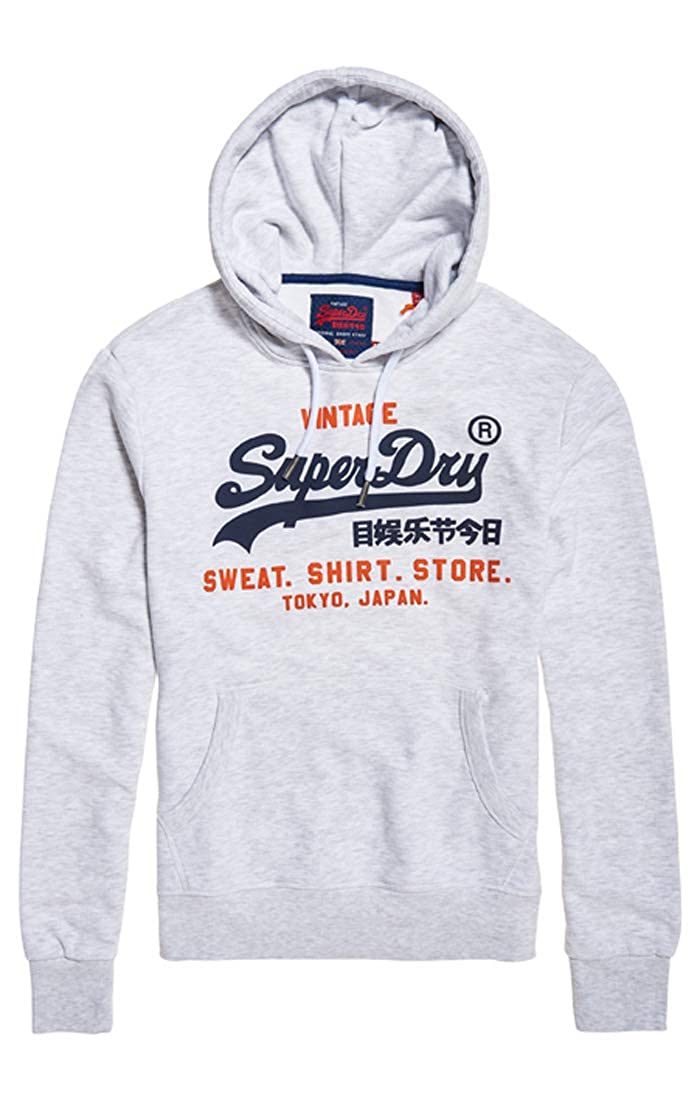 TALLA S. Superdry Sweat Shirt Shop Duo Hood suéter para Hombre