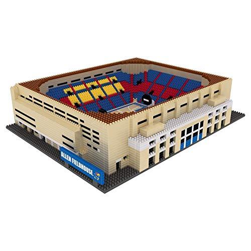 FOCO NCAA Kansas Jayhawks 3D Brxlz Stadium Building Block Set3D Brxlz Stadium Building Block Set, Team Color, One Size ()