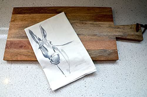 Amazon.com: Donkey Flour Sack Tea Towel: Handmade