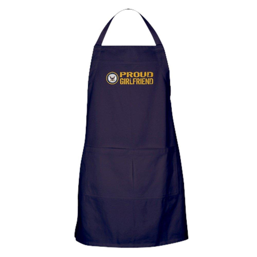 CafePress - U.S. Navy: Proud Girlfriend - ポケット付きキッチンエプロン グリルエプロン ベーキングエプロン   B077WHM33N